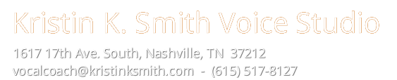 Kristin K. Smith Voice Studio